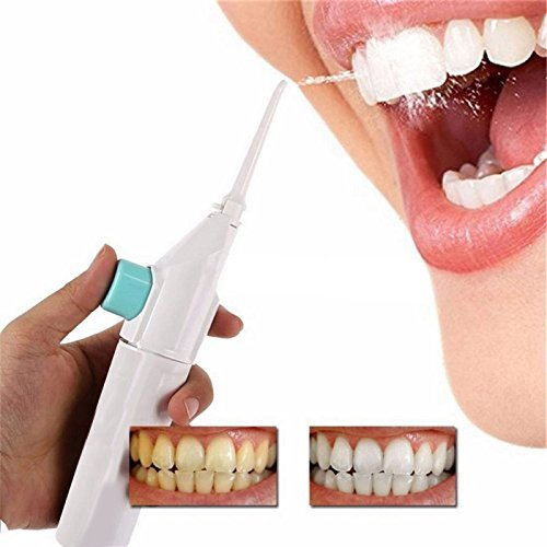 ORIGINAL Speed Dental Care Water-Jet Flosser Air Technology Portable Dental Water Jet Cords Tooth Pick Power Floss Dental Cleaning Whitening Teeth Kit Power Floss Air Powered Dental Water Jet For Tooth Cleanner