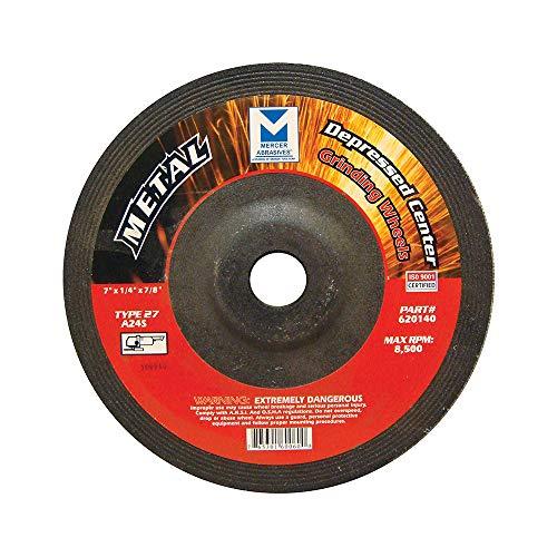 Mercer Abrasives 620140–20Typ 27Niedergeschlagen Center Schleifscheiben Bluetooth von 1/4-Zoll von 7/8Zoll, 20er Pack