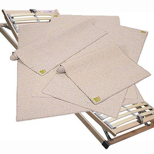 Matratzenschoner, Matratzenunterlage, Matratzenschutz, Maße: 90/200 cm, aus Jute, Wolle, Baumwolle und 20 % Polypropylen