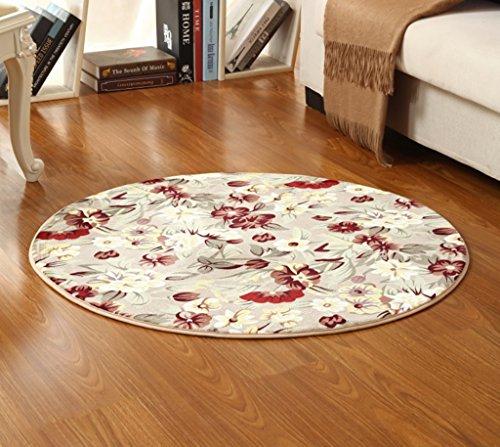 SESO UK- Silla para niños simple alfombra alfombra redonda antideslizante para dormitorio sala de estar ( Color : B , Tamaño : 100cm )