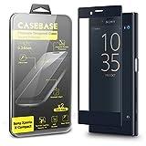 Protection écran Sony Xperia X Compact - CaseBase Pack de 2 Films 3D Protection Ecran en Verre Trempé Premium pour Xperia X Compact (Smartphone Modèle 2016) - Film Protecteur Ultra Résistant - Fuselage 3D Optimisé Spécial Ecran Courbé - NOIR