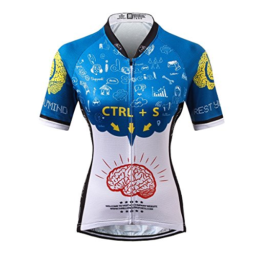Thriller Rider Sports® Womens Rest Your Mind Outdoor Sports Mountain Bike Short Sleeve Cycling Jersey