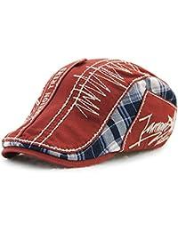Tioamy Baschi Scozzesi Cappelli e Cappellini Camuffamento Coppola Cappello  Irish Gatsby Newsboy Hat Flat cap 350771c2ef27