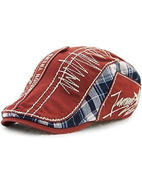 Sombrero de Pico de Pato de algodón Tapa Plana Taxista la Tapa Exterior Ajustable Unisex de Moda Repartidor de...