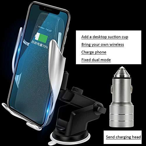 DFGB-CZSJZ Clip mágico soporte para teléfono para coche cargador inalámbrico para coche cargador de coche de navegación por inducción automático inteligente - Telefono De Inalambrico Cargador