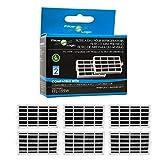 FilterLogic | Pacco da 6 - Filtro antibatterico per frigorifero Whirlpool, Indesit, KitchenAid, Hotpoint - compatibile con Microban ANT001, ANT-001, ANTF-MIC, 481248048172 Sistema di protezione aria