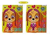 2 x Kinder Ordner Mappe Sammelmappe Heftmappe Zeichenmappe Ablage mit Gummizug Gummiband DIN A4 wählbar: Frozen - Minnie – Barbie – Trolls - Paw Patrol – Geschenk für Mädchen (Paw Patrol)