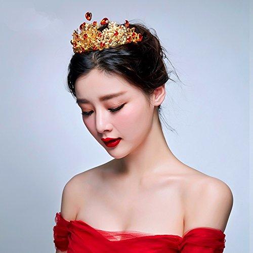 Schmuck, die Braut verheiratet Krone, die rote Krone, Krone, Haarspangen, Toast kostüm zubehör, (Kostüm Toast Kleinkind)