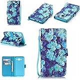 Chreey Coque Samsung Galaxy J5(2015) / SM-J500F (5 pouces),PU Cuir Portefeuille Etui Housse Case Cover ,carte de crédit Fentes pour ,idéal pour protéger votre téléphone