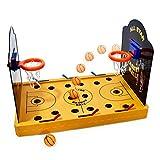 Goods & Gadgets GmbH Elektronisches Basketball Tischspiel - Miniatur Tischbasketball elektrisches Arcade Game Basketballspiel