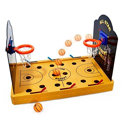 Elektronisches Basketball Tischspiel - Miniatur Tischbasketball elektrisches Arcade Game Basketballspiel (Elektronische Basketball-arcade)