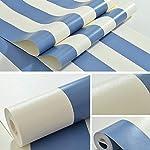 zyy Horizontal Vertical Raya Sencillo PVC Impermeable Papel Pintado por Sala Hotel Decoración 0.53 * 10m1 / Roll