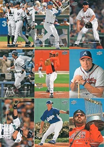 2008 Upper Deck Baseball Series #1 and #2 Complete Mint Hand Collated 799 Card Set. The Set Is Loaded with Stars and Rookies Including Alex Rodriguez, Ken Griffey Jr., Ichiro Suzuki, Albert Pujols, Chipper Jones, Derek Jeter, Manny Ramirez, Kosuke Fukudome, Johnny Cueta, Clay Buckholz, Joey Votto, J.R. Towles and Many Others. by Upper Deck