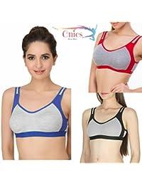 Cnics Women's Sports Bra, Gym Bra, Active wear, Casual Bra Combo.