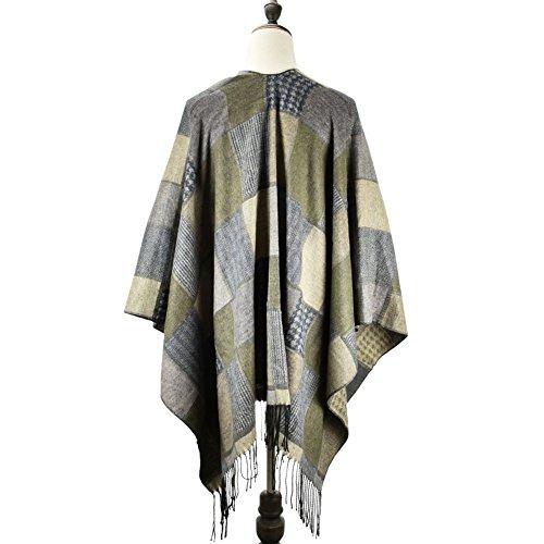 Premium Scarves - Poncho - Femme green