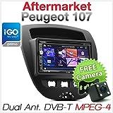 Auto DVD GPS MP3Player DVB-T MPEG-4Digital TV Stereo Radio CD Mp4Peugeot 107