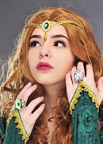 nigin Green Jewel Krone Headpiece (Mittelalterliche Krone)