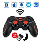 Leton Mando Inalámbrico para Juegos Compatibles con Android/iOS, 2.4GHz Bluetooth Gamepad para PC / PS3 / iPhone/iPad/TV, Controlador de Juego móvil PUBG Mobile Game Controller Joystick movil