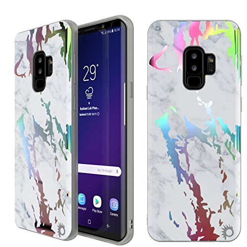 punkcase Galaxy S9 Plus Marmor Schutzhülle, Beautiful & Schutz Full Body Cover w/punkshield Displayschutzfolie [Rutschfeste Grip] Authentic Marmor Look für Ihr Samsung Galaxy S9 +, Blanco Marmo (Louis Fall Vuitton Samsung)