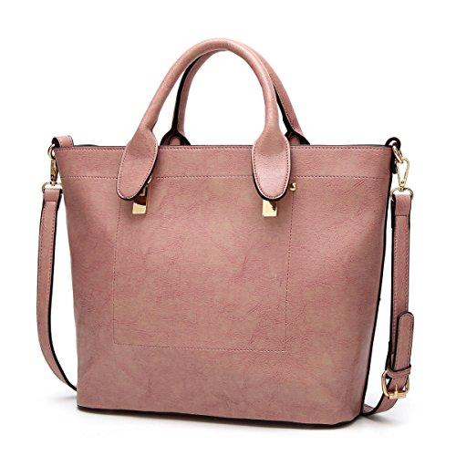 PDFGO Lokomotive Bag Bucket Bag Einfache Casual Handtasche Oblique Cross Weibliche Tasche Tote Bag Öl Wachs Große Kapazität E