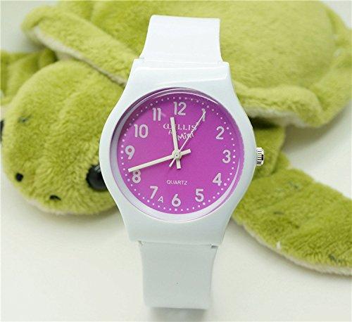Tocoss(TM) wasserdicht Gelee Design-analoge Armbanduhr Kinder Uhr / Kind-Quarz-Armbanduhr-freies Verschiffen [11]