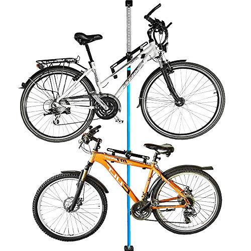 ALLEGRA Fahrradaufhängung Fahrradwandhalterung Fahrrad Halterung Fahrradmontageständer 1 Stück (Blau, 1 Halterung inkl. Befestigungsstange 160cm - 290cm)