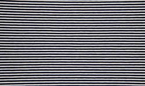 Qualitativ hochwertiger Jersey Stoff Blau/Weiß schmal gestreift als Meterware mit Öko-Tex Zertifizierung zum kreativen Nähen von Baby, Kinder- und Damenkleidung, 50 cm - Gestreiften Blau Weiß Und Stoff