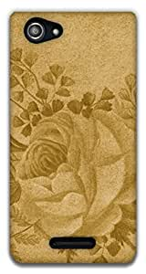 The Racoon Grip printed designer hard back mobile phone case cover for Sony Xperia E3. (Rose)