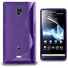 Sony Xperia T Lt30p Étui HCN PHONE® S-Line TPU Gel Silicone Coque souple pour Sony Xperia T Lt30p - VIOLET