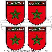 """Maroc Marruecos marroquí Shield 50mm (2"""") bumper-helmet de vinilo pegatinas, calcomanías x4"""