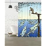 Cómics que son sabios 150x180cm resistente al moho poliéster cortina de ducha de tela conjunto fantásticas decoraciones cortinas de baño ganchos incluidos