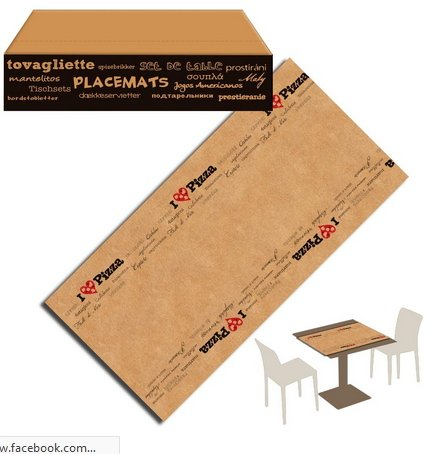 You & Me Runner Placemat 50 x 80 Kraft Paper Havana Rustic packservice Pizza Pack 250