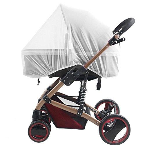 Baby Moskitonetz für Kinderwagen, Tragetaschen, Autositze, Wiegen. Passend für die meisten packnplays, Wiege, Stubenwagen & Laufgitter, aus weiß, tragbar und Beständigkeit Baby Insektenschutz