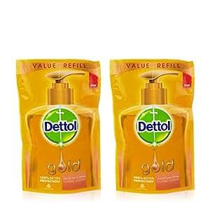 Dettol Gold Liquid Handwash Refill Pouch, Classic Clean - 185 ml (Pack of 2)