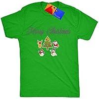 Pablo Stampe Merry Christmas–Maglietta da donna di Babbo Natale e i suoi amici