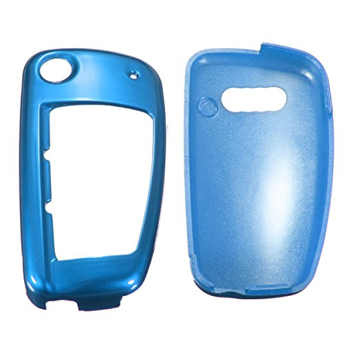 JenNiFer Remote Flip Key Cover Case Shell Fob Protection Für Audi A1 A3 A4 A6 Q3 Q5 Tt - Blau