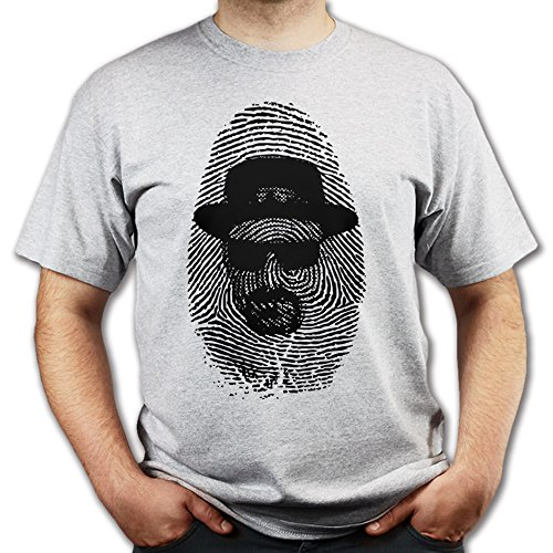 Heisenberg Walter White Breaking Thumbprint Bad T-shirt Grau