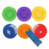Perfeclan 6 Set Placas giratorias Palos Payaso Malabares niños Equilibrio Juguete Truco de Magia