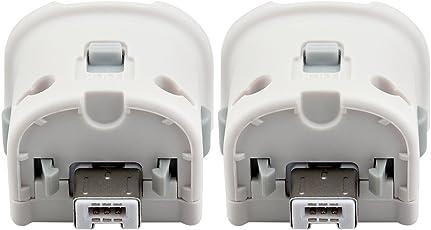 Prous 2 X Wii Motion Plus Adapter, XW26 Wii Remote Plus Sensor Adapter für Nintendo Wii Remote Controller Weiß