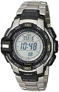 Casio - PRG-270D-7ER - Pro-Trek - Montre Homme - Quartz Digital - Cadran LCD - Bracelet Acier Gris