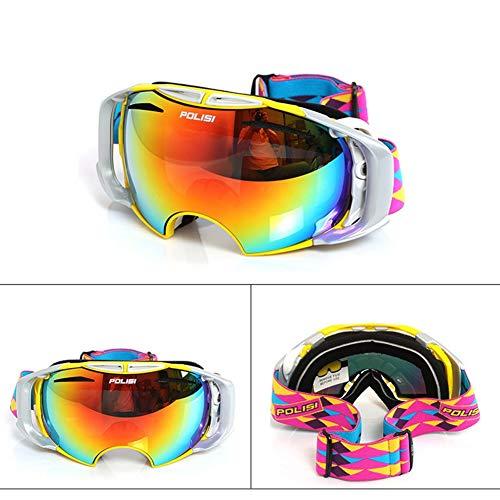 He-yanjing Outdoor Sports Snow Snowboard Goggles, Radfahren Schutzbrillen Motocross Goggles, Eltern-Kind-Skibrille, Skibrille für Männer und Frauen (Farbe : Gelb) (Gelbe Snowboard-schutzbrillen)