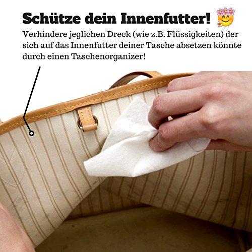 510q67IxmeL - Classic Slash Handbag Organiser - Bag in Bag - Insert Pouch for Women Purse - Felt