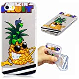 Coque iPhone 5/5S/5SE silicone ananas Souple Housse transparent ultra fin TPU motif...