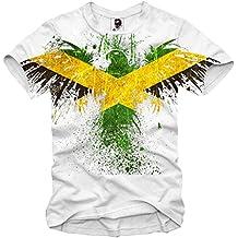 E1SYNDICATE T-SHIRT JAMAICA EAGLE REGGAE FLAG BOB MARLEY S-XL