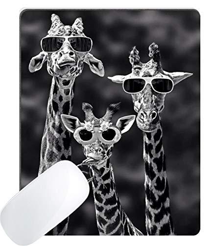 Muccum Gaming Mauspad Custom, lustige Giraffe mit Sonnenbrille