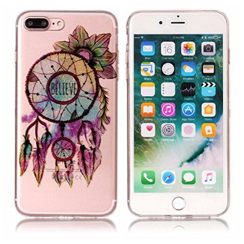 "Coque pour Apple iPhone 7 Plus , IJIA Transparent Scintillement Bling Dreamcatcher TPU Doux Silicone Bumper Case Cover Shell Housse Etui pour Apple iPhone 7 Plus (5.5"") XS64"