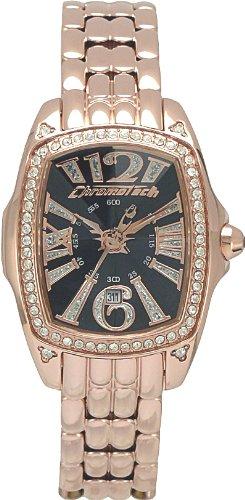 Chronotech LADY NIGHT CT.7948LS/05M - Reloj de mujer de cuarzo, correa de acero inoxidable