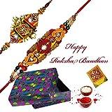 #8: Rajlaxmi Beautiful HandCrafted Kundan And CZ Rakhi : Set of 2
