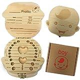(Versione Italiana)Denti box per bambini, baby Teeth Storage box Save organizer scatole di legno personalizzata Decidue souvenir box, personalizzare personalizzato Baby Teeth Collection box