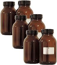 Viva-Haushaltswaren-65500ml./5botellas vasos farmacia en marrón cristal, incluye etiquetas